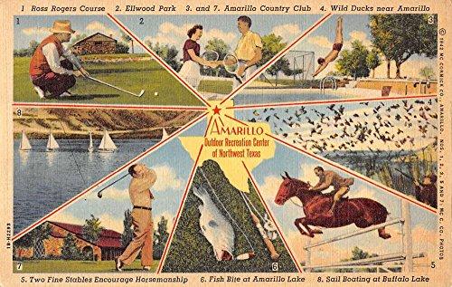 Center Postcard - Amarillo Texas Recreation Center Multiview Antique Postcard K33973