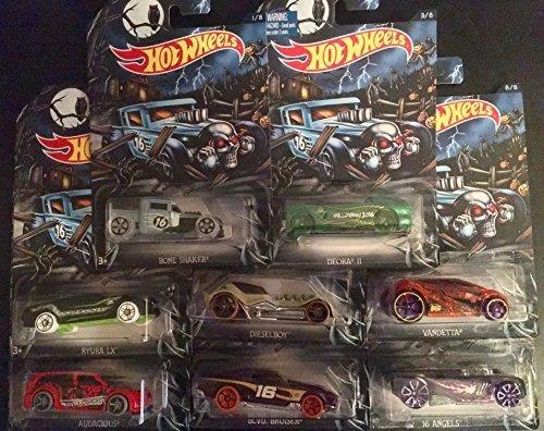 Hot Wheels Halloween 2016 Exclusive Complete Set of 8 Cars ()