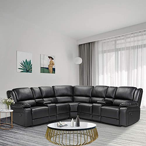 Anshunyin Symmertrical Reclining Sectional Sofa Sectional Sofa Power Motion Sofa Living Room Sofa Corner Sectional Sofa