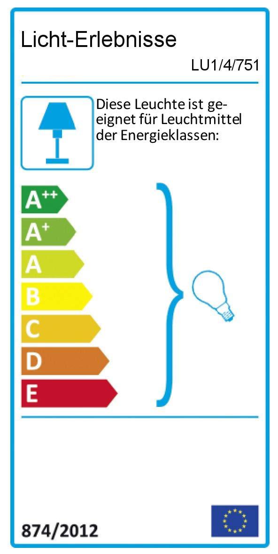 Zeitlose Hängeleuchte in Blau Weiß Weiß Weiß 1x E27 bis zu 60 Watt 230V aus Kunststoff & Metall Küche Esszimmer Pendelleuchte Hängelampe Pendellampe Beleuchtung a77aff