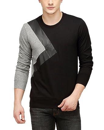 4e700362 Campus Sutra Men's Printed Regular Fit T-Shirt (SSS16LDR_RNFSTR_M_BLGR_Bl_S)