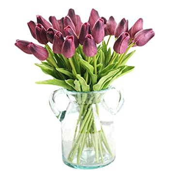 Xhsp 30 Pcs Real Touch Artificial Tulip Flowers Home Wedding Party Decor by Xiaoheshop