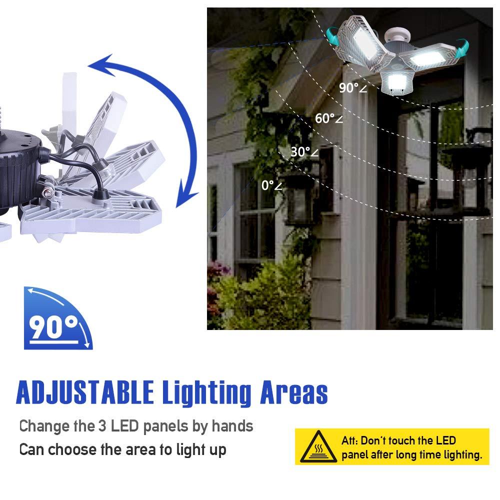 Garage Lighting,E26 Led Bulb 6000LM,Led Garage Ceiling Lights,led Garage Lights,Garage Light Bulb,led Bulb for Garage,led Shop Light,Workshop Light (Daylight, 60w''Standard'') (60w''Standard'' Daylight) by LifeLux (Image #2)