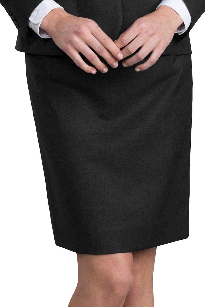 Edwards Garment Womens Lightweight Skirt, Black, 26 R