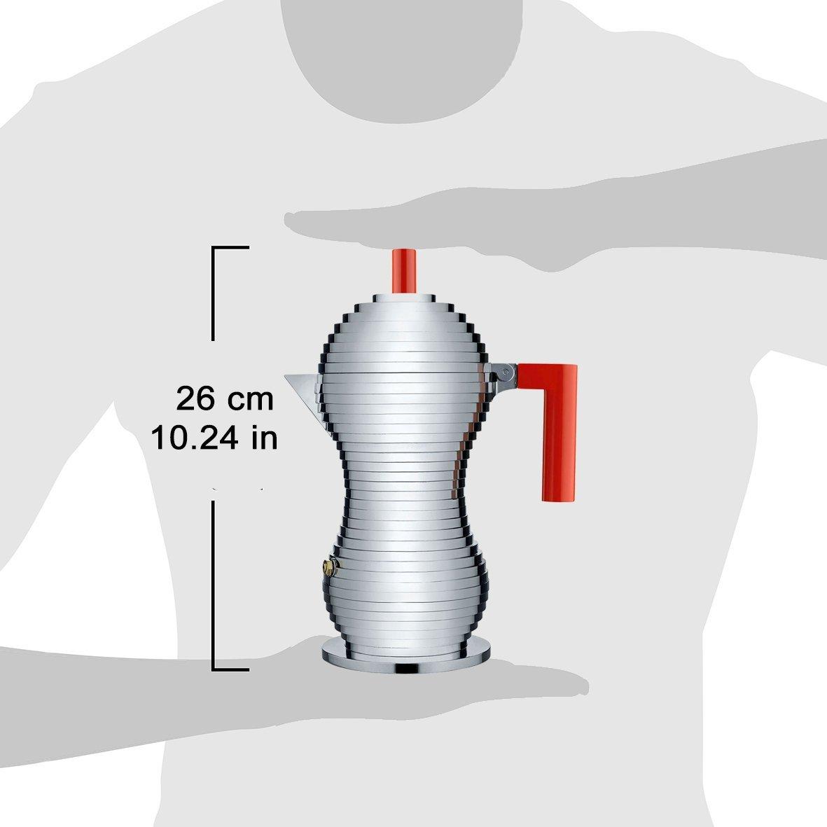Alessi Mdl02//6 B Pulcina Cafeti/ère Espresso en Fonte Daluminium Noir 6 Tassess Poign/ée et Pommeau en Pa