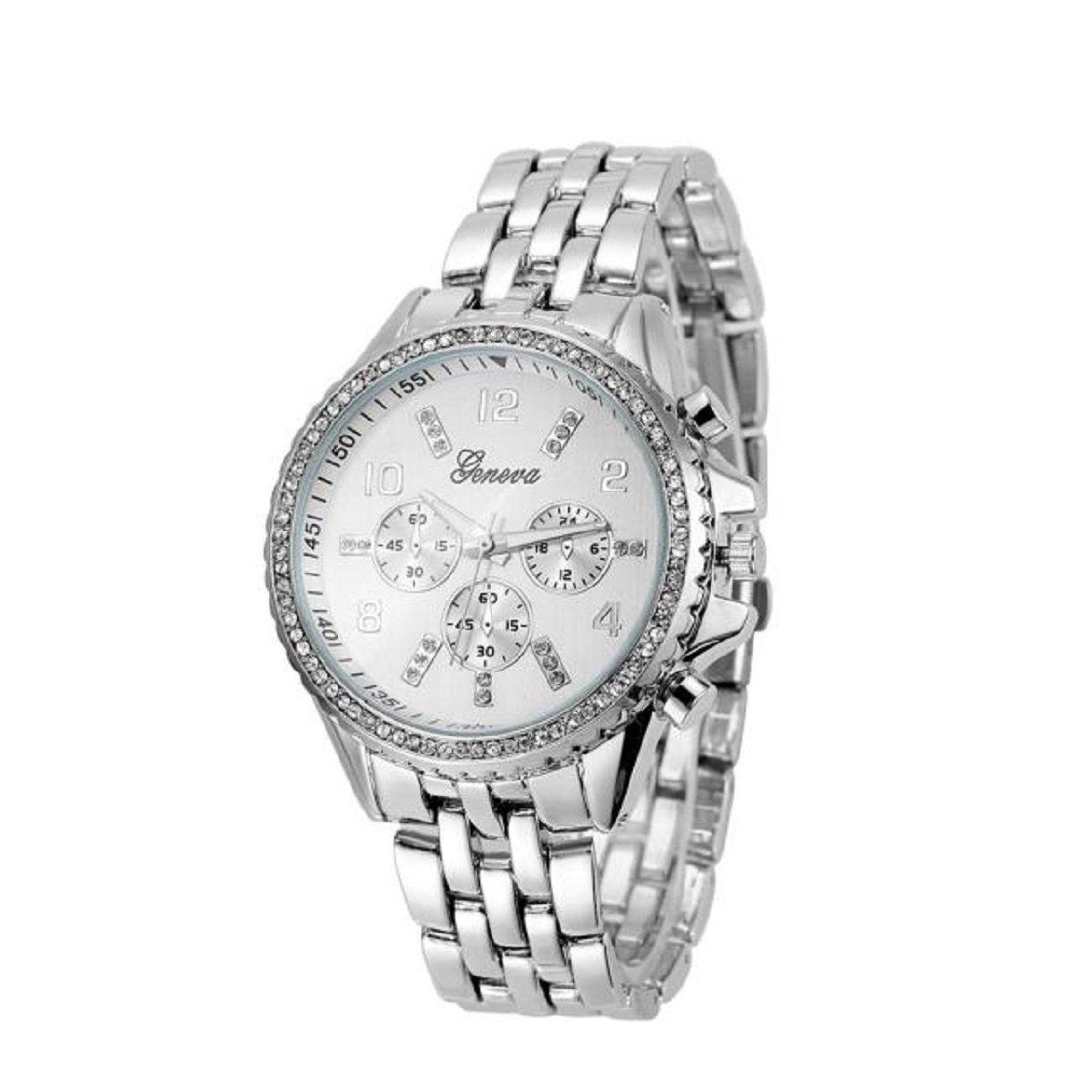 Geneva Lookatool® Fashion Classic Luxury Stainless Steel Quartz Analog Wrist Watch