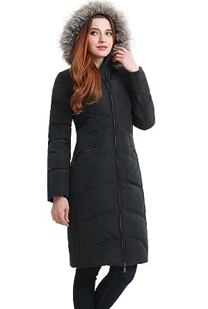 9eafdea161b3 Amazon.com  BGSD Women s Bonnie Waterproof Hooded Long Down Coat (Regular    Plus)  Clothing