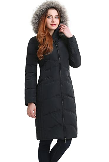 e676e1355c7 BGSD Women's Bonnie Water Resistant Hooded Long Down Coat - Steel Gray S