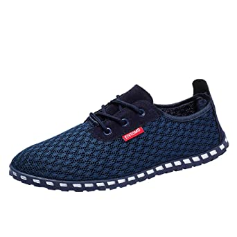 a4d2c442228c Moonuy Hommes Mesh Respirant Chaussures Casual Chaussures De Mode Sneakers  Chaussures De Sport Outdoor Trail Chaussure