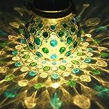 Best Solar Lights - Blue Green Diamond Solar Glass Jar Decoration Light Review