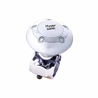 Hypersonic Vehicle Power Handle Car Steering Wheel Spinner Accessory Knob Universal Fit for Car (Silver): Automotive