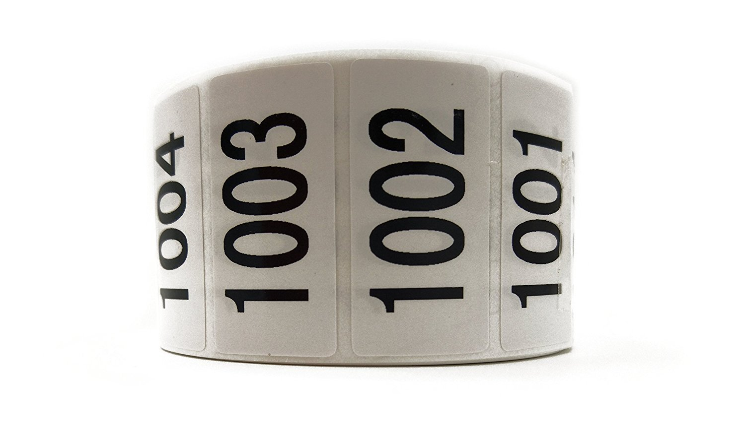 """Enzo Consecutively Numbered Sticker Labels 1.5 x 0.75"""" Water Proof Oil Resistance from Serial Number 1001 to 2000 1.7"""" Core Roll"""