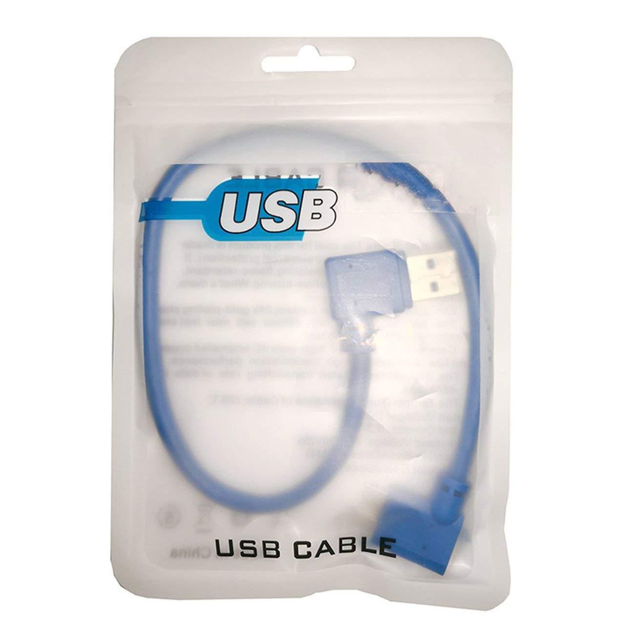 Cavo Corto per Disco Rigido USB Usb3.0 sincronizzazione Dati fITtprintse 30 cm 90 Gradi Micro B USB 3.0 ad Angolo retto