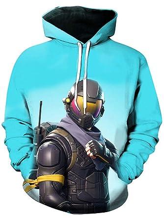EMILYLE Unisex Fnite Pullover Porträt Druck Jacke Sweatshirts Coole  Oberteile Streetwear für Männer Jungen Damen 9f281c1b79