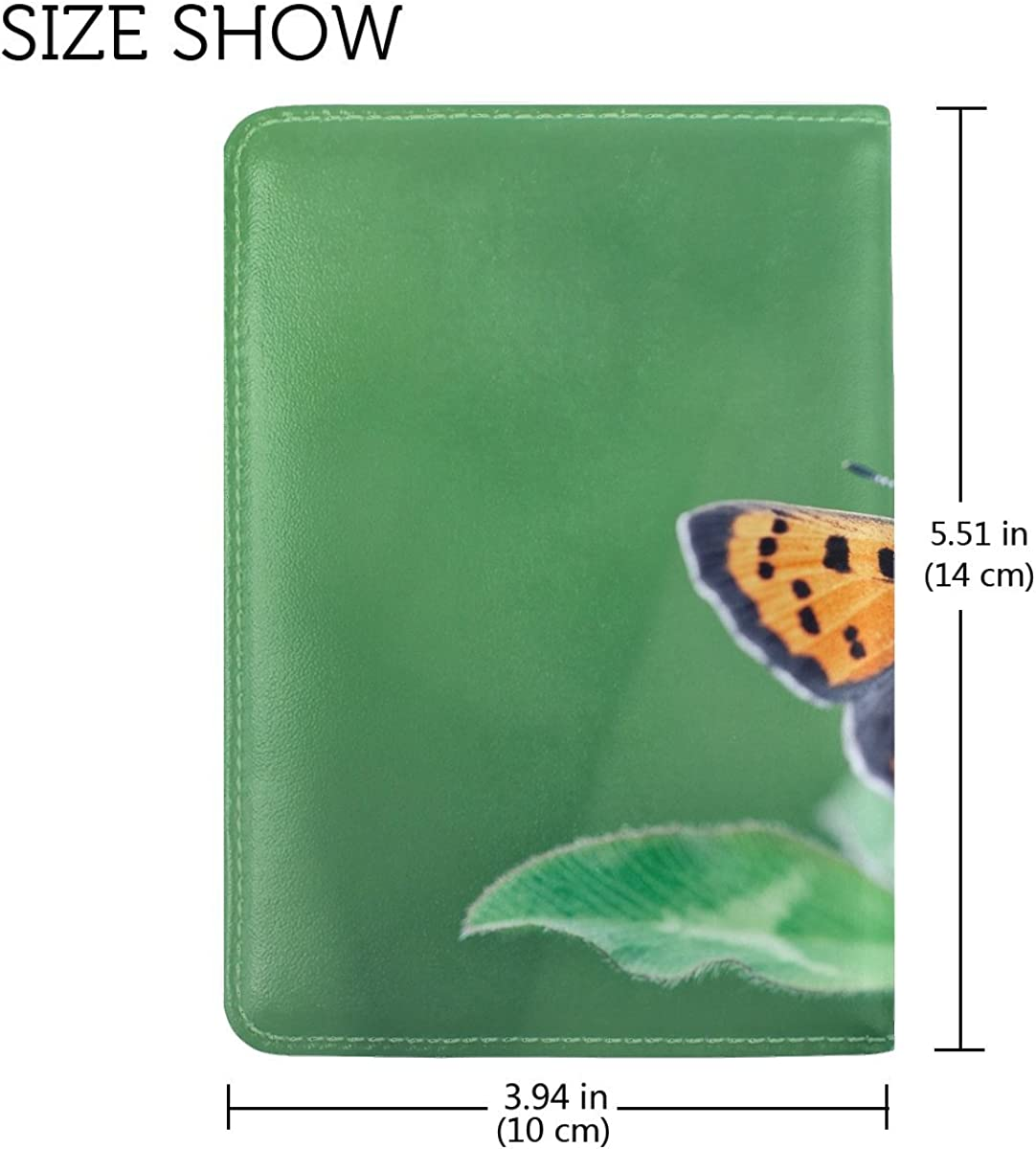 Girl Wings Butterfly Space Leather Passport Holder Cover Case Travel One Pocket
