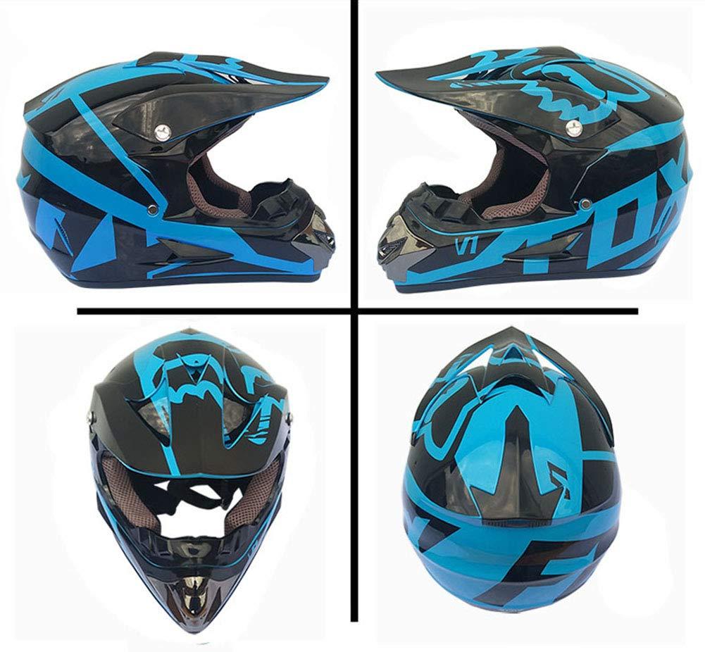 dfjhbg Motocross MX Casco de motocross, set de casco de motocross ...