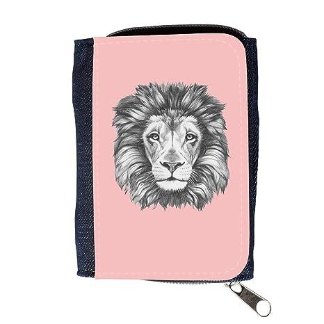Cartera para hombre // Q05160610 Dibujo león Bebé rosa // Purse Wallet
