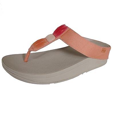 38075983c9e280 FitFlopTM Womens Sweetie Toe-Post Sandals Orange Hush UK3 Orange ...
