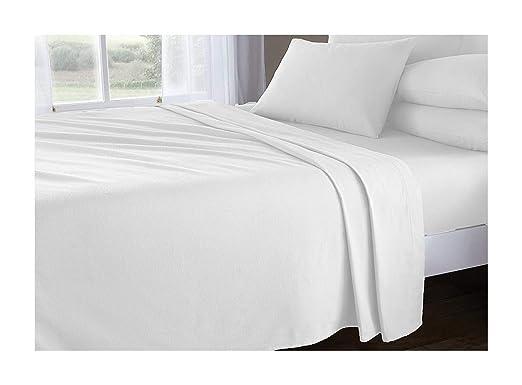 100% o cama de matrimonio de franela de algodón Natural suave hoja ...