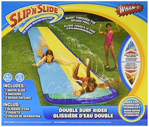 Wham-O Slip 'N Slide Surf Rider Double Sliding Lanes 16ft Yellow and Blue 1pc