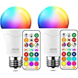 LED Light Bulb 85W Equivalent, Color Changing Light Bulbs with Remote Control RGB 6 Modes, Timing, Sync, Dimmable E26…