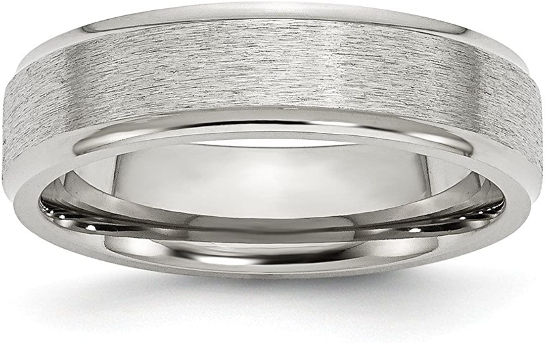 Wedding Bands Classic Bands Flat Bands SS 6mm Flat Size 10 Band Size 4.5