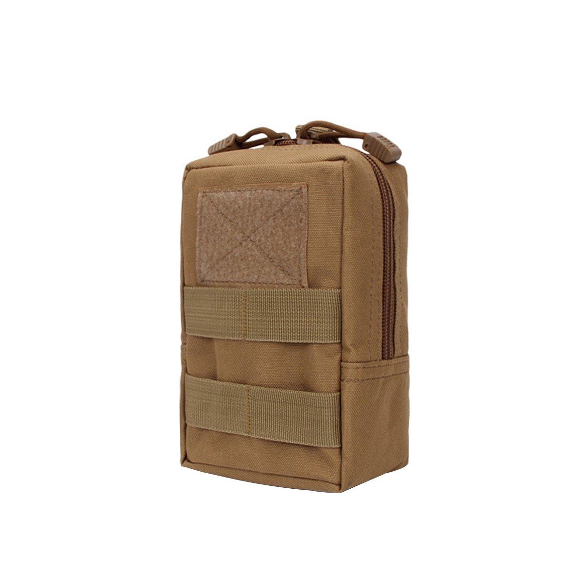 WINOMO Bolsa de Cintura Militar Impermeable Bolsa Compacta Molle Riñonera para Herramientas (barro de color)