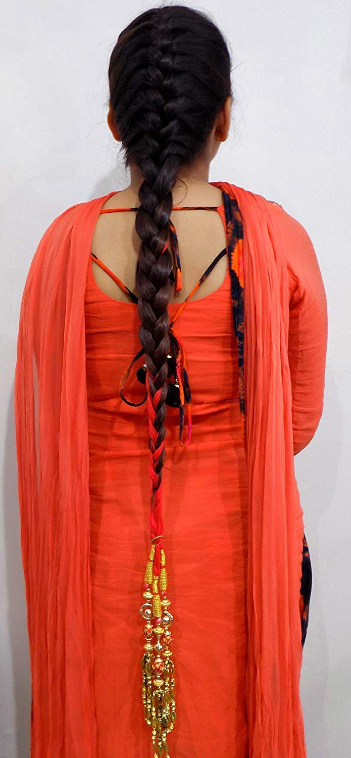 Iyaan Punjabi Braid Tassels Hair Extensions For Women Red Amazon In Beauty