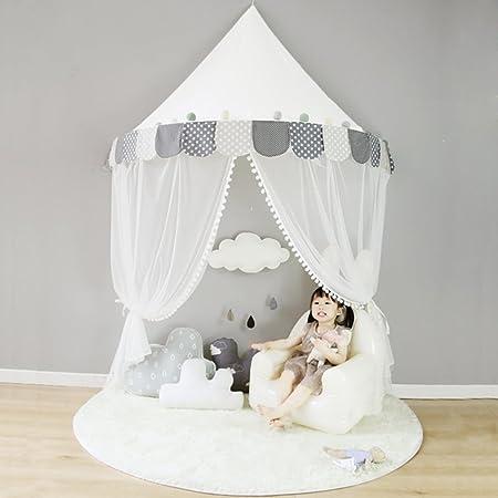 Ciel de Lit Coton Bebe Moustiquaire Rideau Baldaquin Enfant Decoration Lit  Fille Garçon Cadeau NTE004