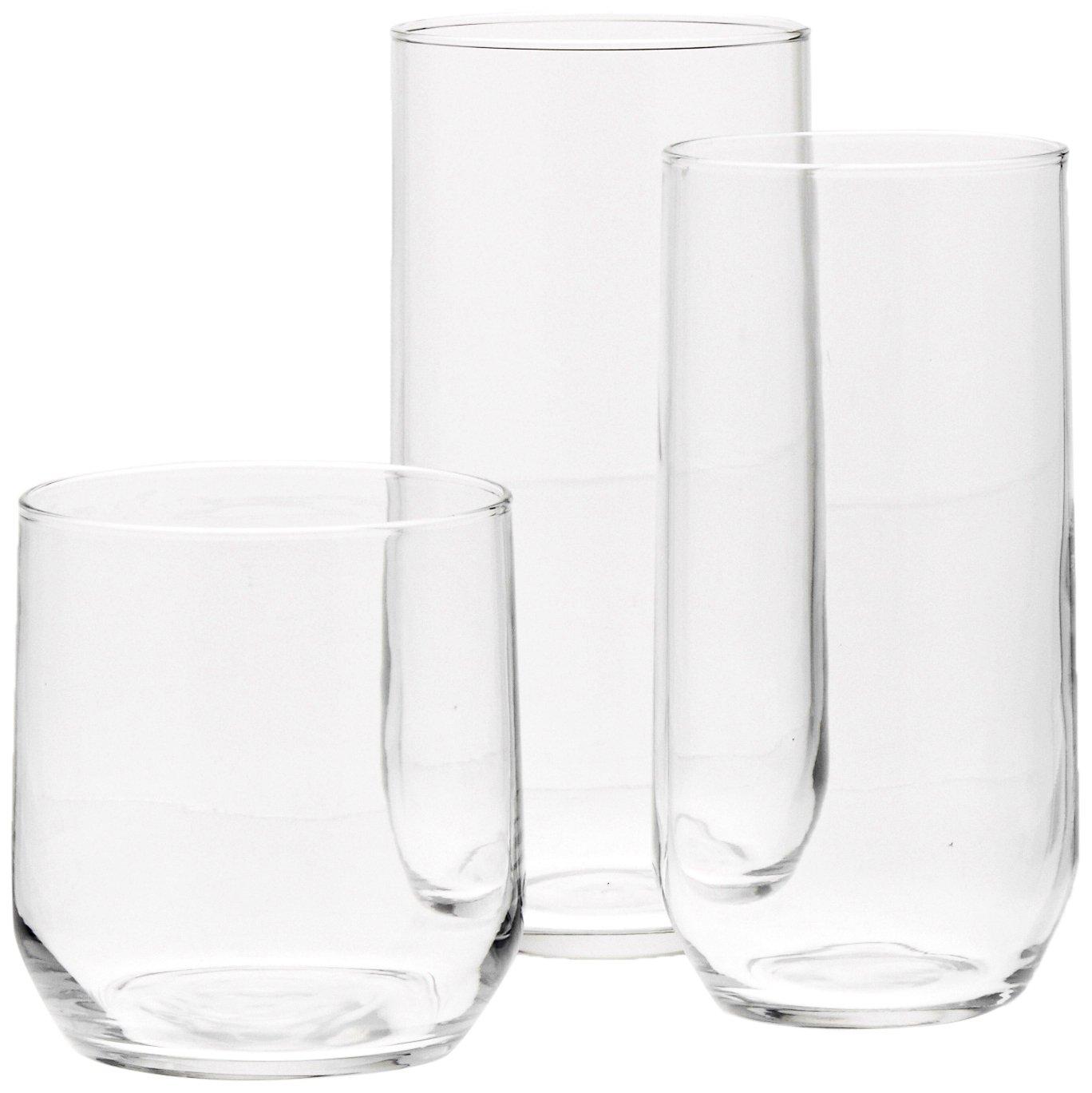 AmazonBasics 18-Piece Glassware Set N4038