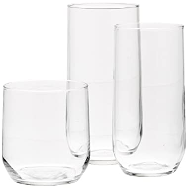 AmazonBasics 18-Piece Glassware Set