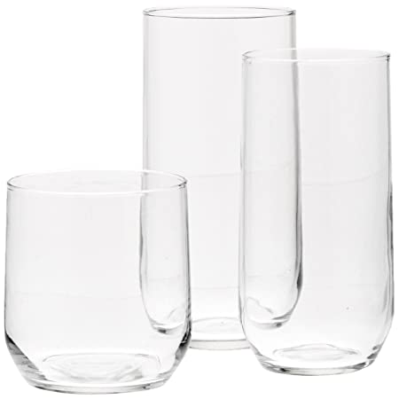 Review AmazonBasics 18-Piece Glassware Set