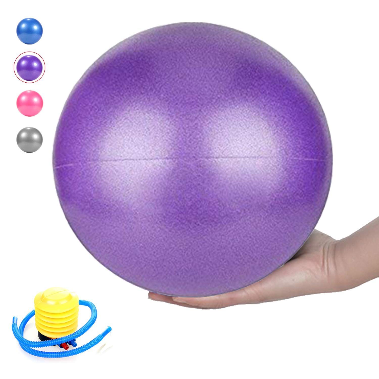 MICOK Pilates Ball, Barre Ball, Mini Exercise Ball, 9 Inch-Small Bender Ball for Pilates, Yoga, Core Training and Physical Therapy, Anti Burst Slip Resistant Balance Ball with Quick Foot Pump
