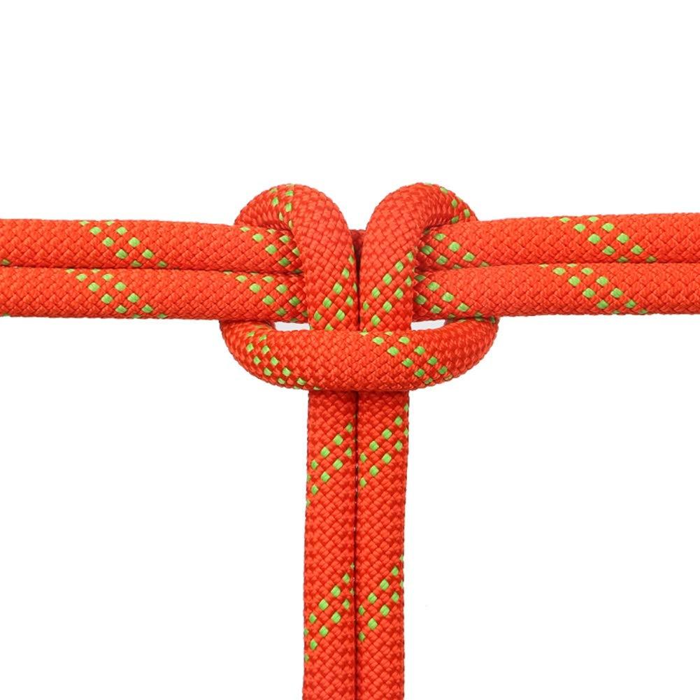 クライミングロープ 登山用ロープ - ホーム火災緊急避難用ロープ10M / 20M / 30M 40M / 50M / 100M、ハイキングケイビングキャンプ用、直径10mm (Color : Orange, Size : 100m) 100m Orange B07T8Y12GK