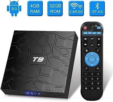 Turewell T9 RK3328 Android 8.1 TV BOX, Android Box con telecomando,Quad Core 64 bit 4