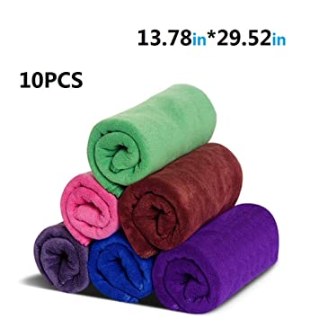 juego de toallas gimnasio microfibra secado rápido toallas deportivas suaves Paquete 35cm X75cm (5 colores) (5 color 5pcs): Amazon.es: Deportes y aire ...