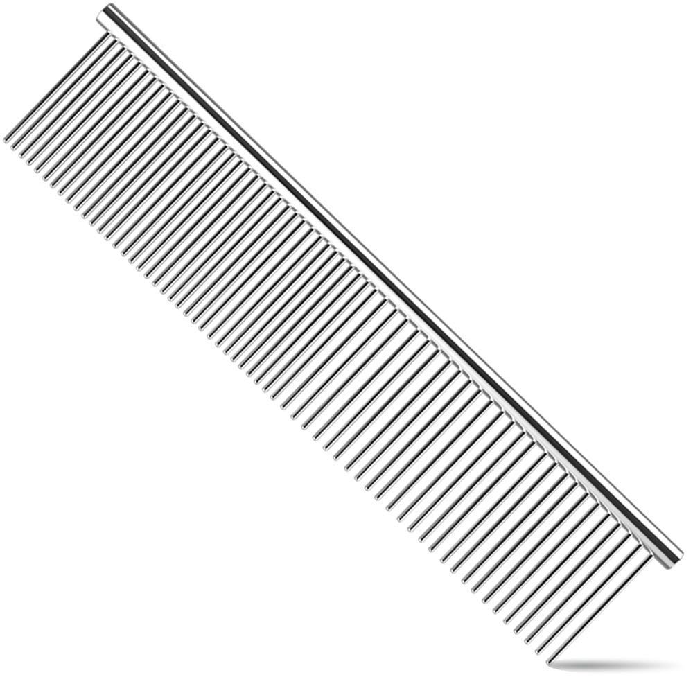 1xstainless Steel Comb Hair Brush Sheddings Flea For Cat Dog Pet Trimmergrooming
