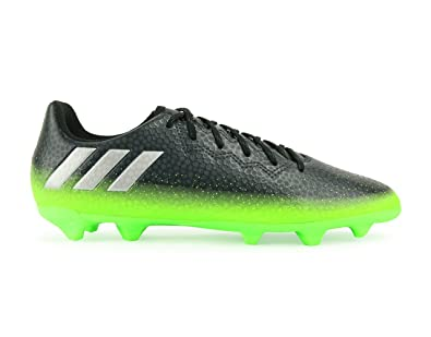 Adidas Kids Messi 16.3 FG/AG Dark Grey/Silver Metalic/Solar Green Soccer
