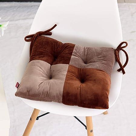 Q&F Interiores Asiento al Aire Libre Espesar Cojines sillas Jardin Exterior Hogar jardín Patio Cocina Office Bistro Tatami Cómodos Cojines para Silla-I 40x40cm(16x16inch): Amazon.es: Hogar