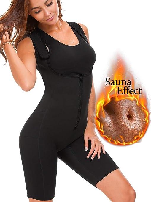 Women Shapewear Full Body Sweat Neoprene Suit Shaper Slimming Vest Waist Trainer