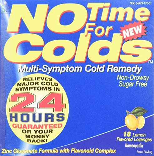 No Time for Colds Multi Symptom Cold Remedy Lozenges, Lemon - 18 Each (4 Pack)