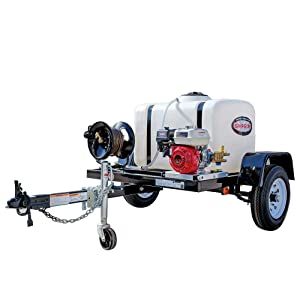 SIMPSON Cleaning 95000 Trailer Cold Water Mobile Washing System Powered by Honda, 3200 PSI at 2.8 GPM