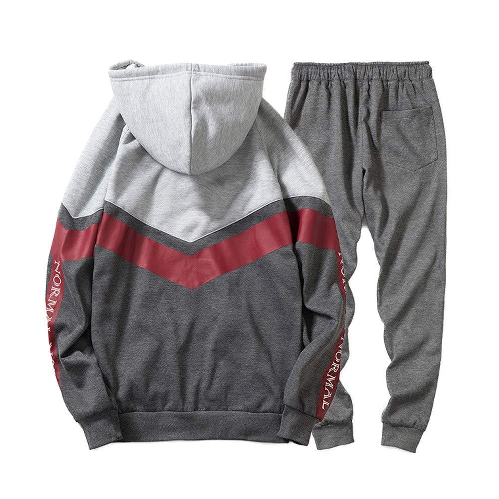 JiaMeng Camiseta Sudadera con Capucha Pantalones Deportivos Chándal de Traje Deportivo Otoño Invierno: Amazon.es: Ropa y accesorios