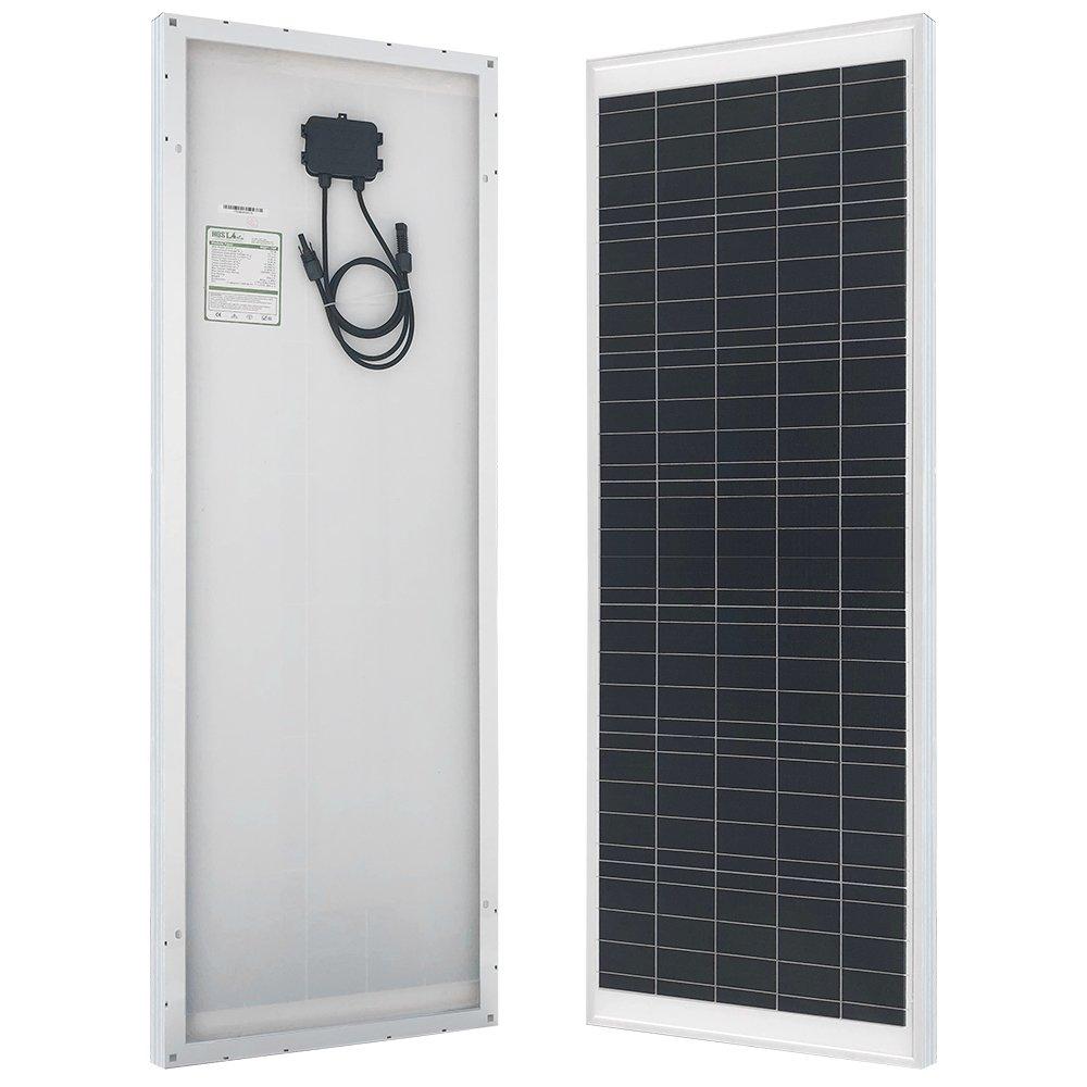 HQST 70 Watt 12 Volt Polycrystalline Solar Panel Off Grid Portable Solar Panel for RV Marine Boat (70w) by HQST