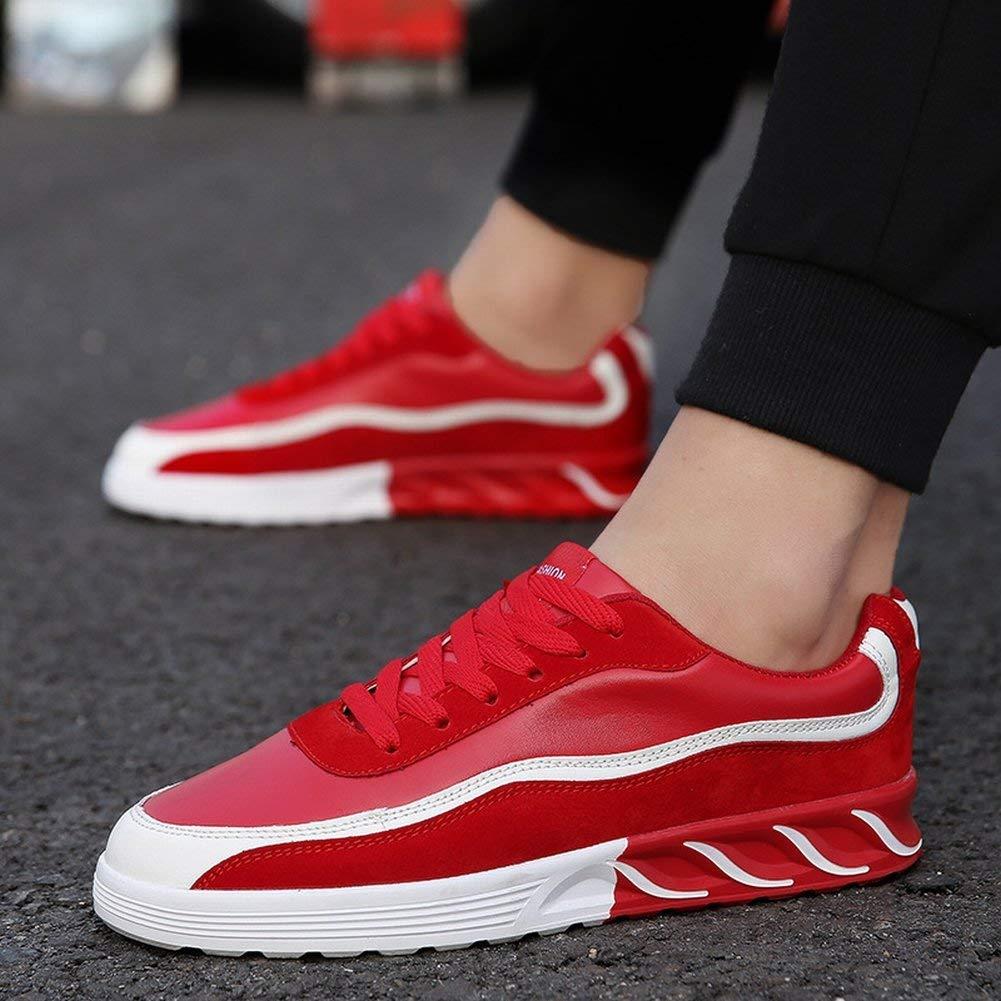 Fuxitoggo Modische Freizeitschuhe Klassische Allgleiches Sport Sport Sport Schuhe Bequeme Atmungsaktive Herrenschuhe (Farbe   Rot, Größe   39) d4450d