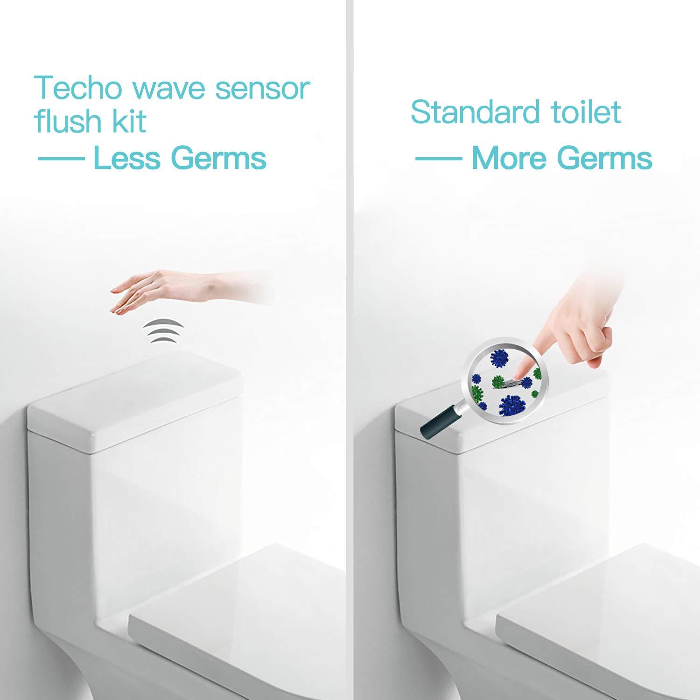TECHO Cisterna con Sensor de Movimiento Descarga Automática Sin Contacto, Funciona con Pilas: Amazon.es: Bricolaje y herramientas