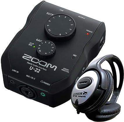 Zoom U22 – Interfaz de audio USB con Ableton Live Lite + Auriculares Keepdrum