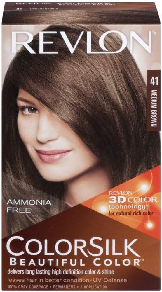 Revlon Colorsilk Sin Amoniaco 41 Castaño Medio: Amazon.es