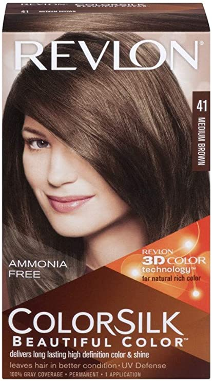 Revlon Colorsilk Sin Amoniaco 41 Castaño Medio: Amazon.es ...