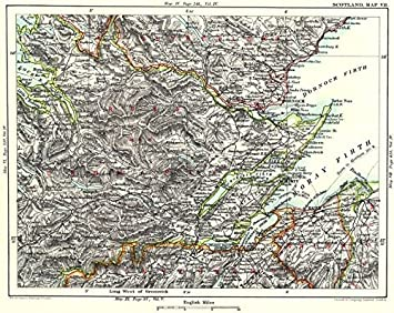 Nairn Scotland Map.Scottish Highlands Ross Cromarty Moray Firth Inverness Nairn